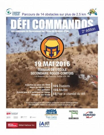 affiche Commandos 2016